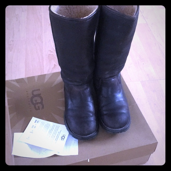 1f7ce1fac43 UGG BROOKS TALL LEATHER BOOTS